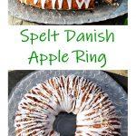 Spelt Danish Apple Ring Pinterest image.