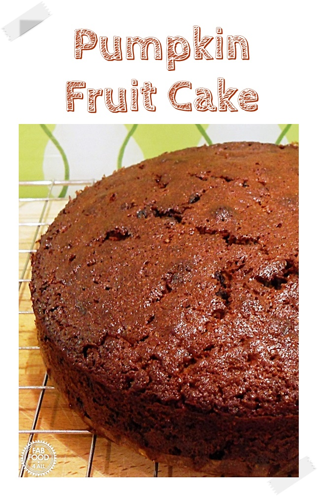 Pumpkin Fruit Cake (Pinterest Image)