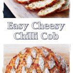 Easy Cheesy Chilli Cob Pinterest image