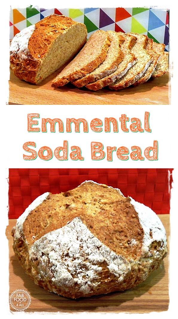 Emmental Soda Bread montage Pinterest image.