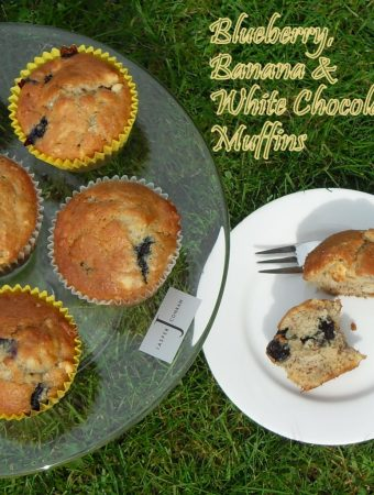 Blueberry, Banana and White Chocolate Muffins from Fab Food 4 All