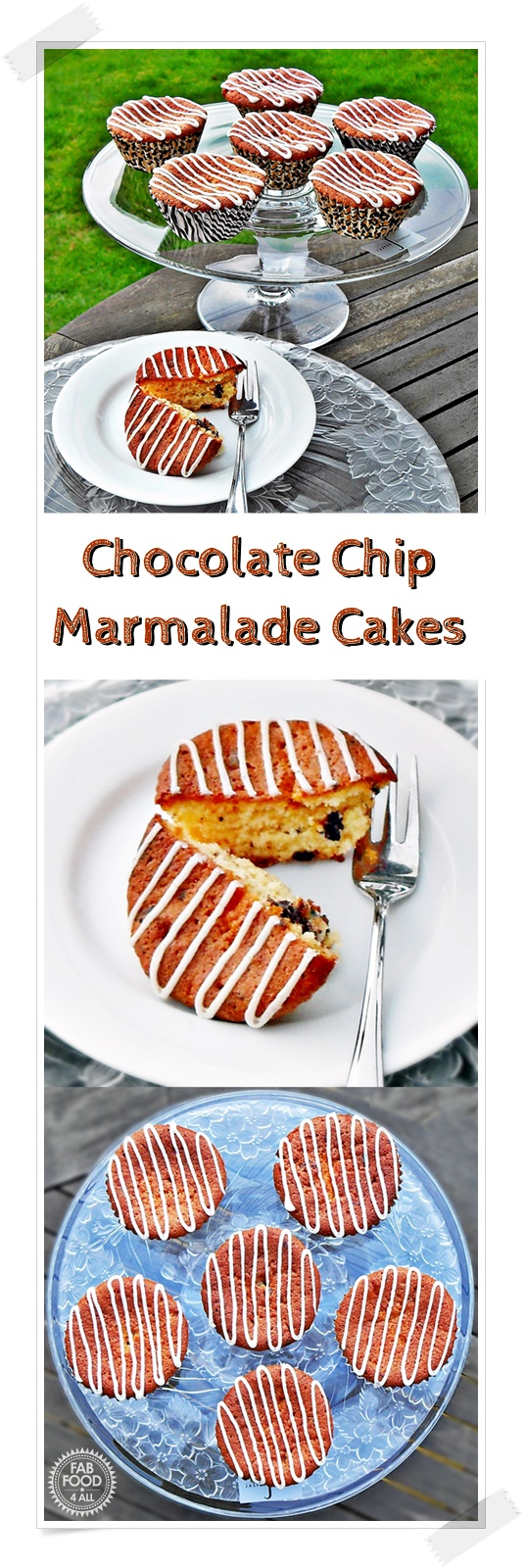 Chocolate Chip Marmalade Cakes - Fab Food 4 All #cupcakes #marmalade #chocolatechip #baking #cake