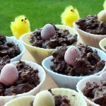 Easter Chocolate Granola Cakes