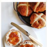 Wholemeal Apple Hot Cross Buns Pinterest Image