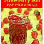 Quick One Punnet Strawberry Jam #strawberry #jam #canning #smallbatch #onepunnet #nopectin #lemonjuice