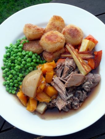 Slow Cooked Pulled Lamb with White Wine & Root Vegetables - Fab Food 4 All