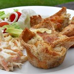 Gruyere & Caramelised Shallot Nests (mini quiches) great for picnics.
