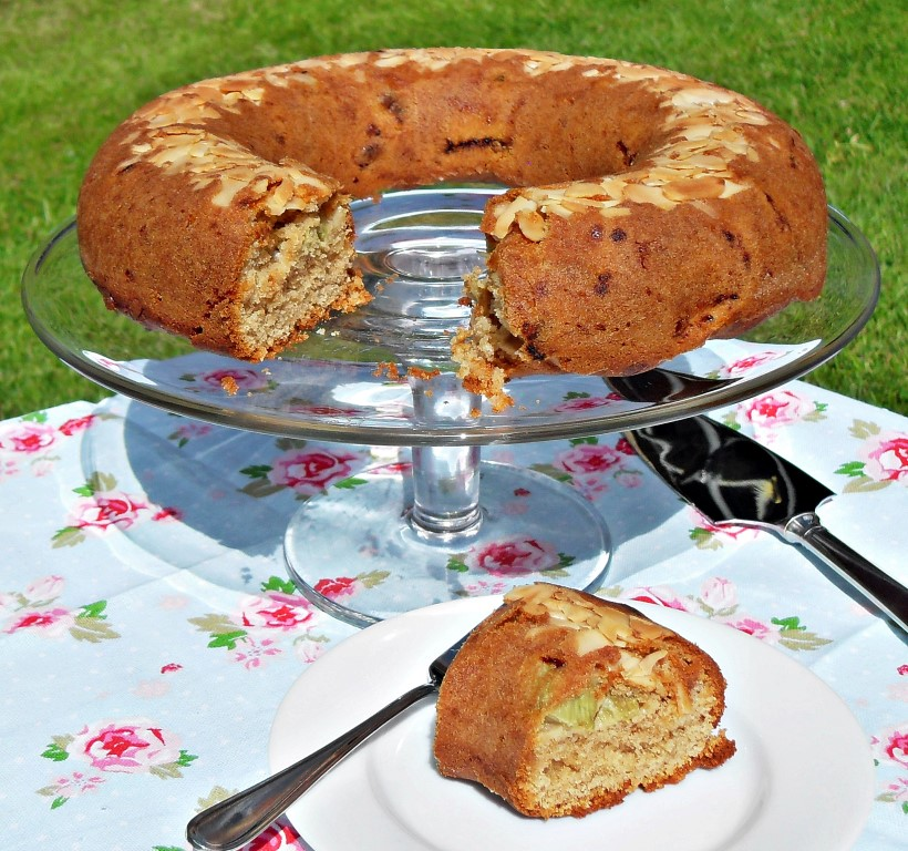 Rhubarb and Marzipan Cake - Fab Food 4 All