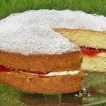 Victoria Sponge Sandwich, Cake, British, Traditional afternoon tea