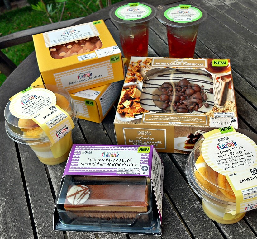 M&S, Puddings, desserts, jelly, cheesecakes