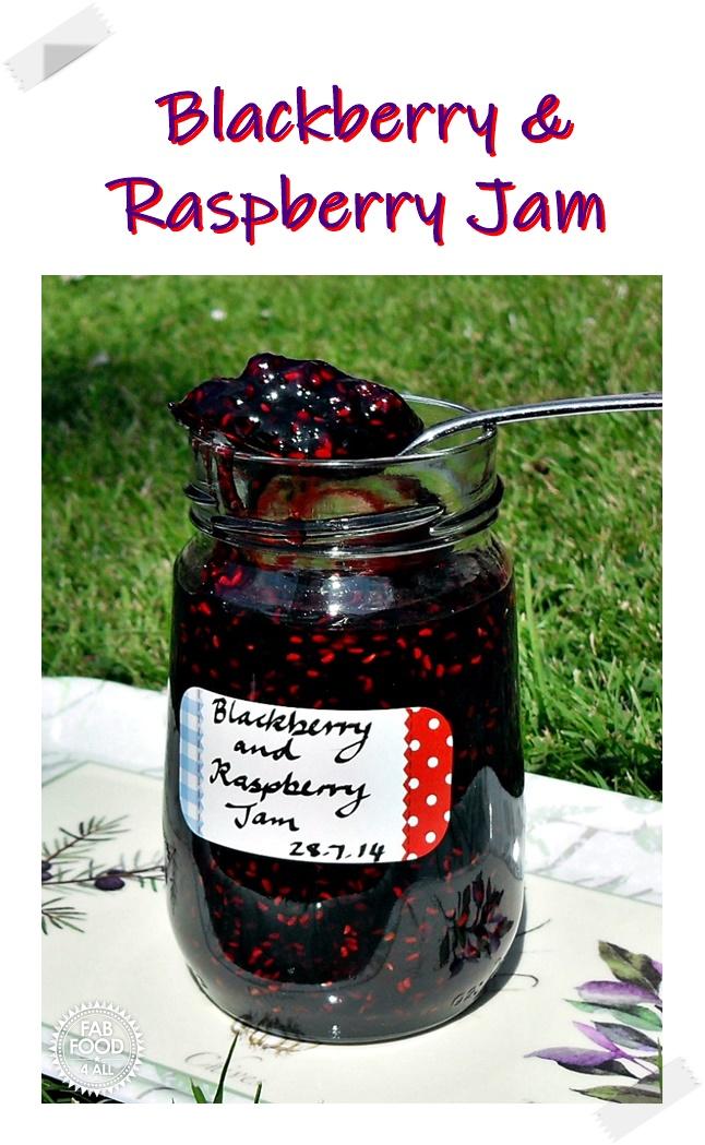 Blackberry & Raspberry Jam Pinterest image.