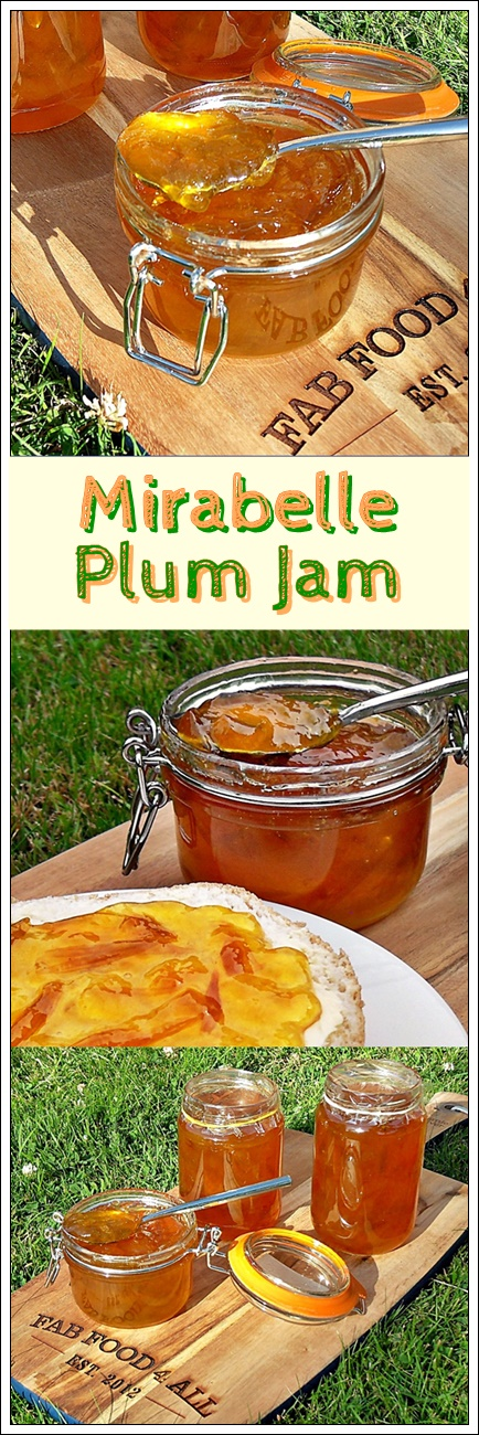 Mirabelle Plum Jam - a lush preserve and great for breakfast! @FabFood4All