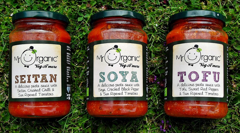 Mr Organic Veg A'more Pasta Sauces, Setan, Soya, Tofu