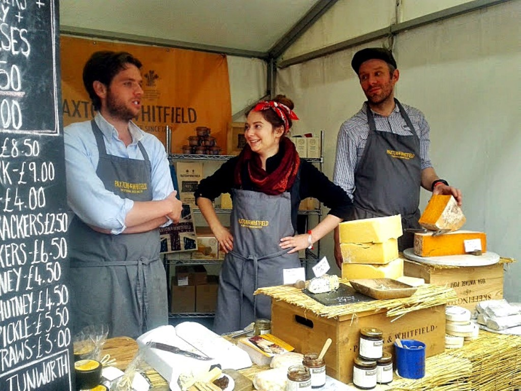 BBC Good Food Festival Hampton Court, 2014, Paxton & Whitfield, cheese shop