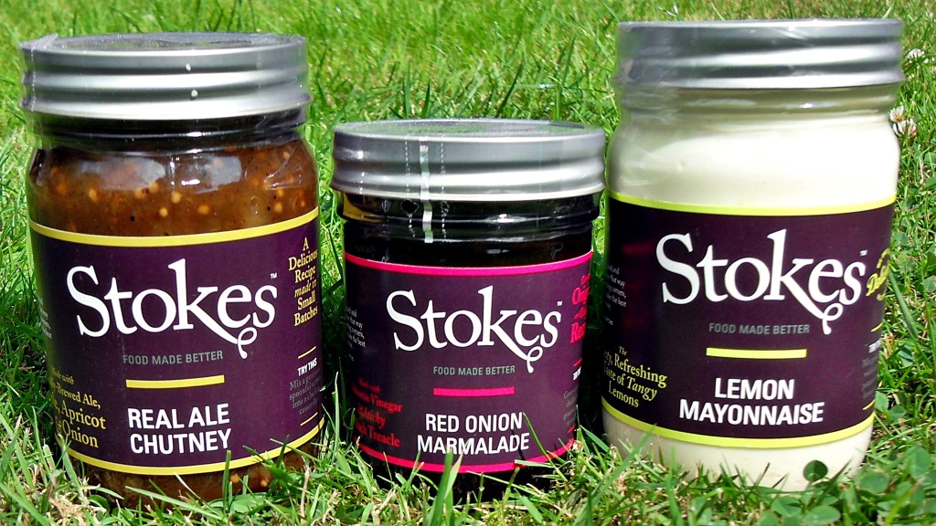 Stokes Saues, Real Ale Chutney, Red Onion Marmalade, Lemon Mayonnaise, British