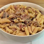 Mushroom & Walnut Penne, white wine, yogurt, organic, vegetarian, low fat