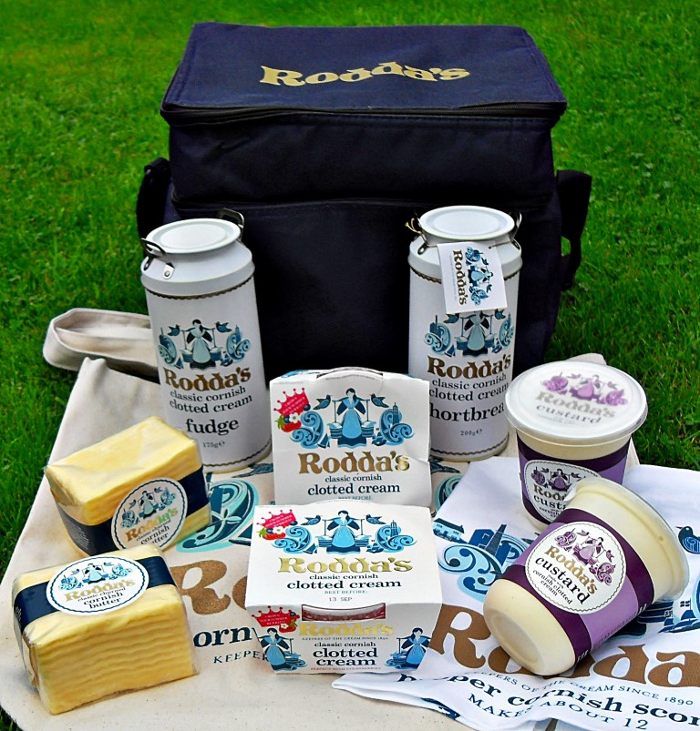 Rodda's Clotted Cream Hamper, Butter, Custard, Fudge, shortbread