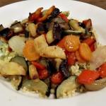 Roasted Mediterranean Vegetables - as a main or side dish!, frugal, no food waste, vegetarian, vegan, easy, recipe