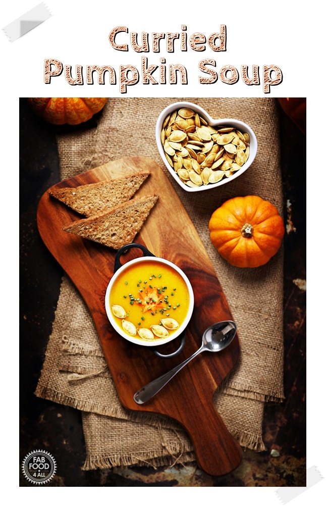 Curried Pumpkin Soup (Pinterest image)