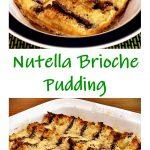 Nutella Brioche Pudding Pinterest image.
