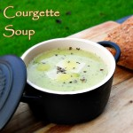 Courgette Soup with garlic, basil and parmesan cheese. zucchini, Healthy, vegetarian, frugal, economical, cheap, quick, easy, broth,