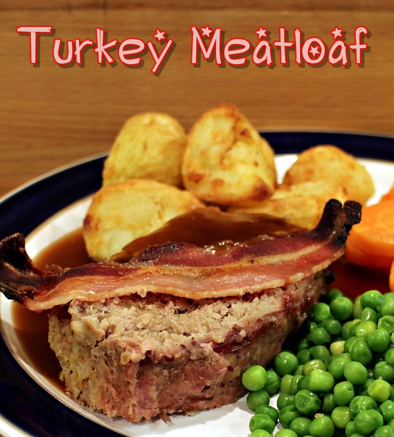 Turkey Meatloaf with ActiFry Roast Potatoes #ActiFry #Meatloaf #MeatloafRecipes #TurkeyMeatloaf #ActiFryRoastPotatoes
