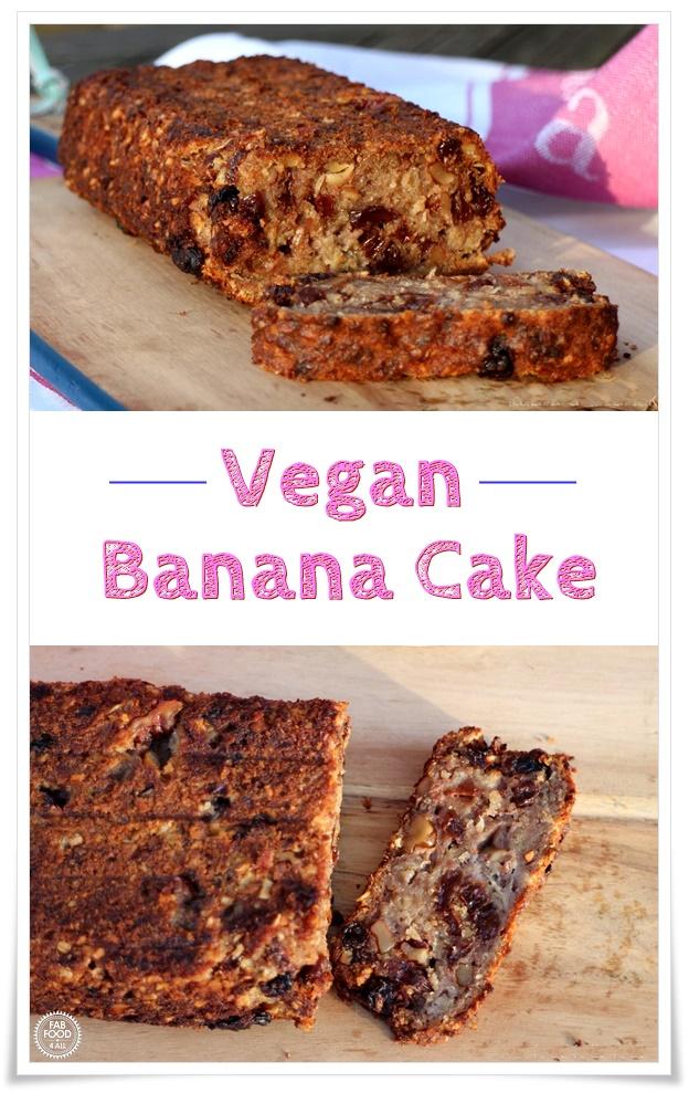 Vegan Banana Cake Pinterest Image