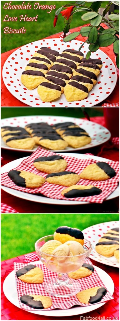 Chocolate Orange Love Heart Biscuits - Fab Food 4 All