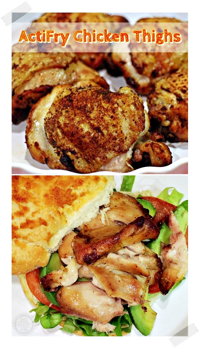 ActiFry Chicken Thighs (Pinterest Image)