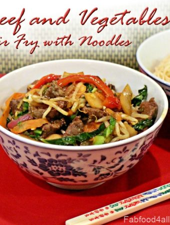 Beef and Vegetables Stir Fry with Noodles, recipe, takeaway, healthy, Actifry Express