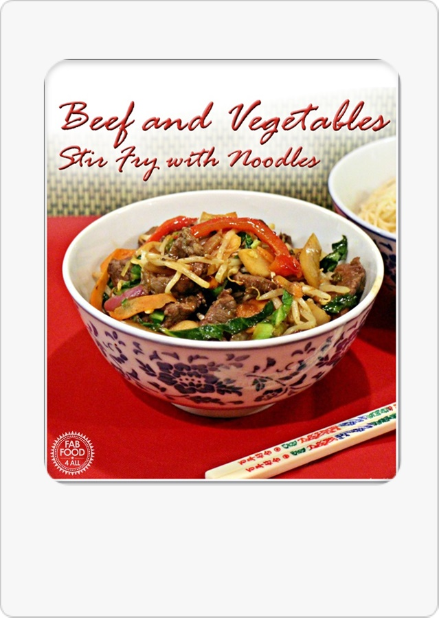 Beef and Vegetables Stirfry with Noodles - ActiFry recipe. Healthier than a takeaway but just as delicious, you'll want to make this again and again! #ActiFryRecipes #Fakeaway #HealthyRecipes #Stirfry #StirfryRecipes #HealthyRecipes #HealthyEating #AirFryerRecipes #AirFryerStirFry #Beef #BeefStirfry #BeefRecipes #HoisinSauceRecipes #HoisinSauce #TakeawayRecipes #Chinese #ChineseRecipes