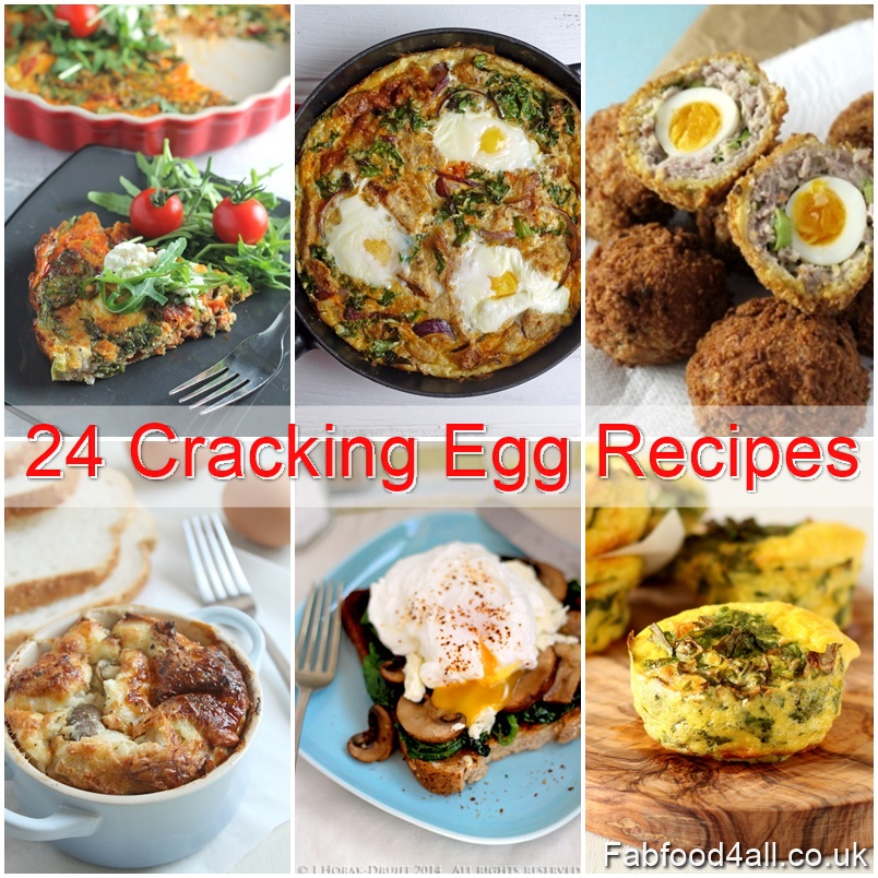 24 Cracking Egg Recipes, blogger's recipes, hen eggs, duck eggs, vegetarian, egg recipe ideas