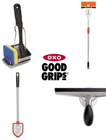 Oxo Spring Clean Giveaway worth £68, Oxo God Grips Sink Tidy, Double Flip Mop, Tub & Tiles Scrubber and Stainless Steel Squegee, quality, cleaning gadgets