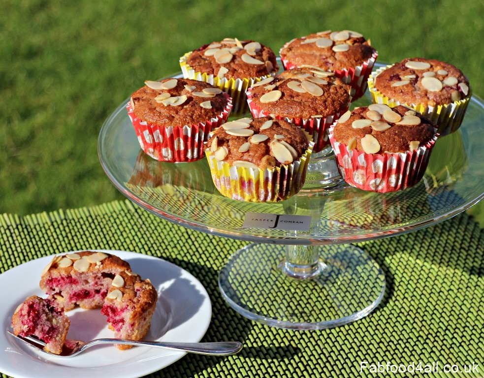 Raspberry, Almond and White Chocolate Muffins, cake, mother's day, fruity muffins, nutritious, easy, quick