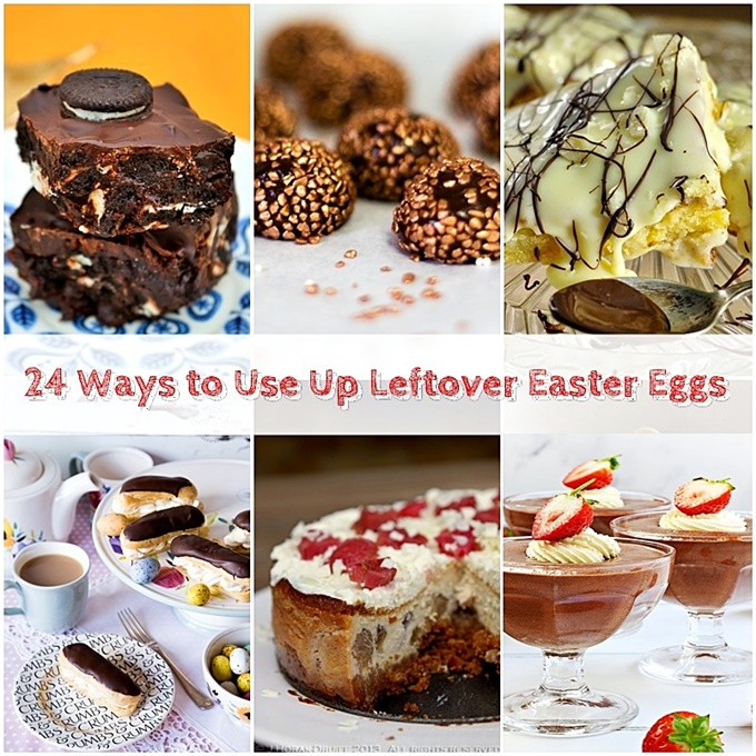 24 Ways to Use Up Leftover Easter Eggs pinterest image