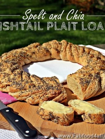 Spelt and Chia wreath, ring, Fishtail Plait Loaf, bread, artisan, healthy, breadmaking, dough, recipe