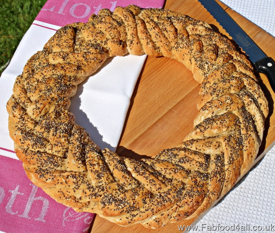 Spelt and Chia Fishtail Plait Loaf, bread, artisan, healthy, breadmaking, dough, recipe