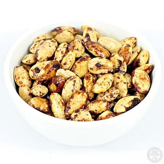 Spiced Almonds in a bowl.