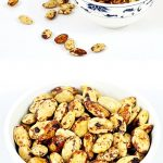 Spiced Almonds in a bowl Pinterest image