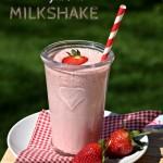 Strawberry & Coconut Milkshake, smoothie, drink, shake, strawberries, coconut