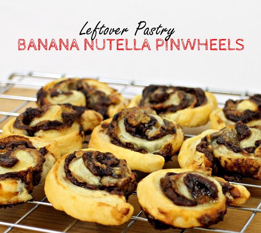 Leftover Pastry Banana Nutella Pinwheels - Fab Food 4 All