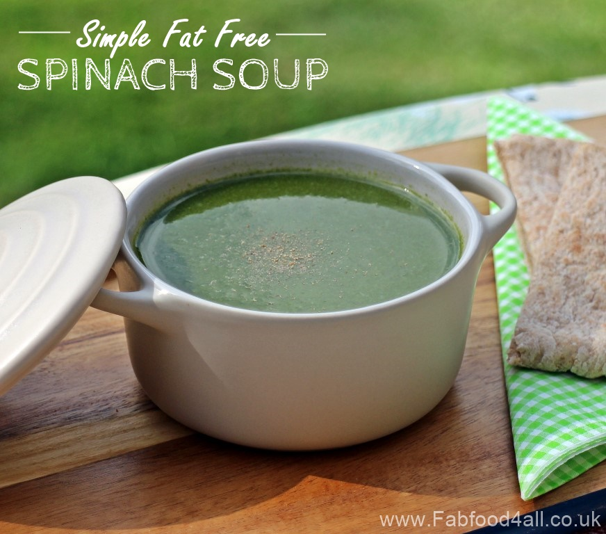 Simple Fat Free Spinach Soup, diet, healthy, nutritioius, 5.2 diet, weight watchers, slimming, iron, soupmaker