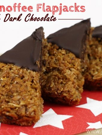 Spelt Banoffee Flapjacks with Dark Chocolate, Banana, Spelt Porridge Flakes, high fibre, healthy, wheatfree, nutritious, snack, treat,
