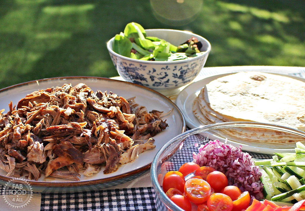 Poor Man's Crispy Duck (Pulled Hoisin Pork Tortillas) - Fab Food 4 All