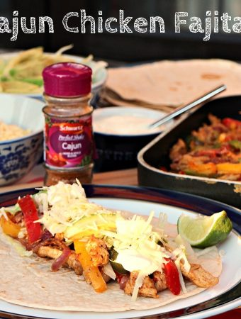 Cajun Chicken Fajitas with Schwartz Perfect Shake
