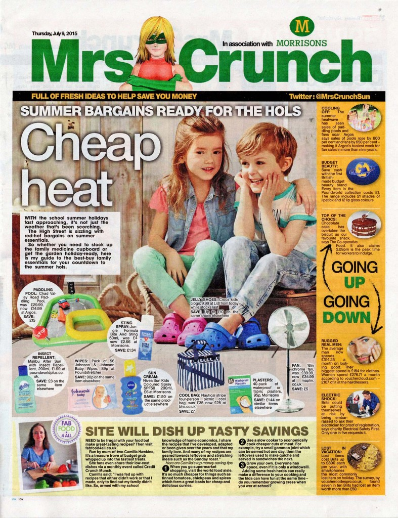 The Sun Mrs Crunch featuring Fab Food 4 All