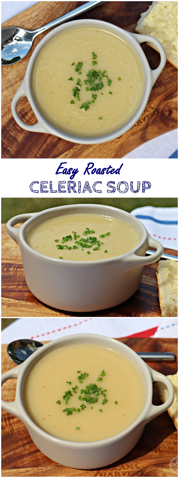 Easy Roasted Celeriac Soup Pinterest image