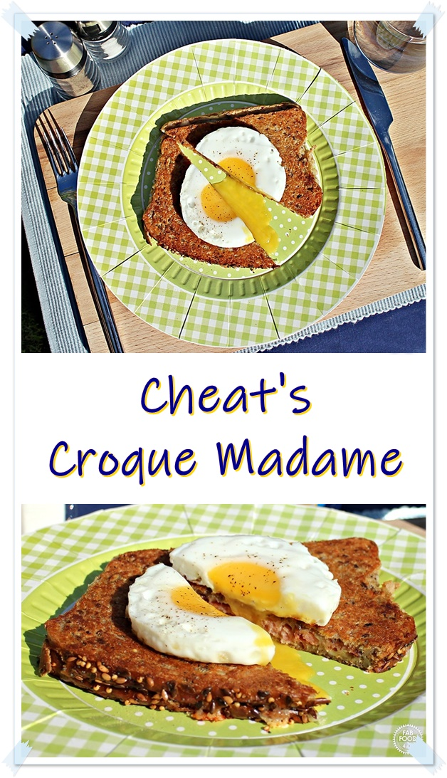 Cheat's Croque Madame Pinterest image