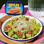 SPAM and Gruyère Salad with Garlic Croutons - Fab Food 4 All