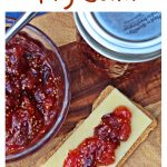 Simple Fig Jam with crackers & cheese Pinterest image.